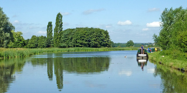 Canal at Tixall Wide in Staffordshire