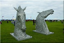 NS3321 : 'Miniature' Sculptures of the 'Kelpies' by Ian Rainey