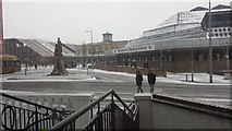 SU7173 : Snow at the railway station by Chris Wood