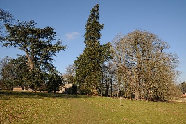 A glimpse of Brockhampton Chapel