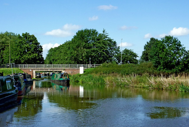 Trent and Mersey Canal at Great Haywood in Staffordshire