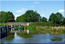 SJ9922 : Trent and Mersey Canal at Great Haywood in Staffordshire by Roger  Kidd