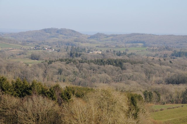 View to Whitbourne Hall and the Teme valley