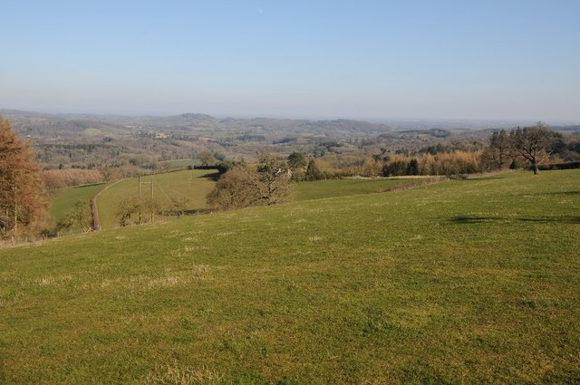 View to Whitbourne and the Teme valley