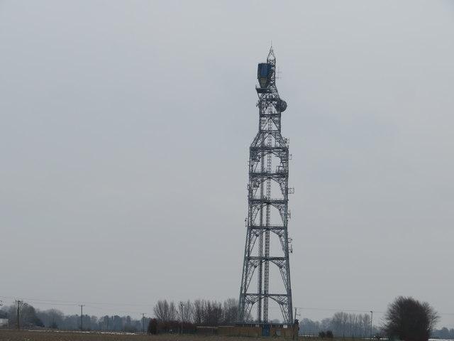 Telecommunications mast - Newton, Cambridgeshire