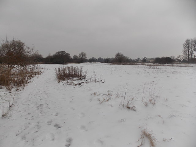 Kinson: Stour Valley path in snow