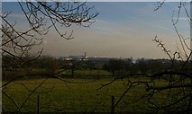 TQ1587 : View from Harrow towards Wembley Stadium by Christopher Hilton