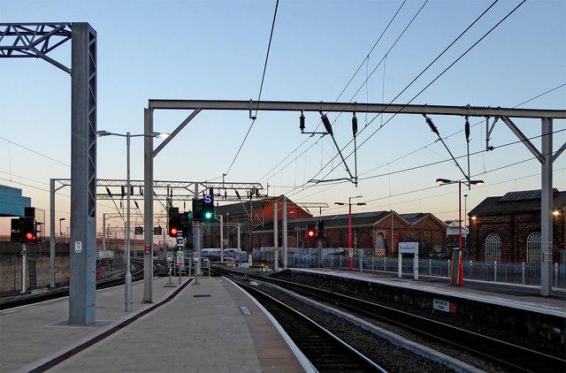 Railway station at Wolverhampton