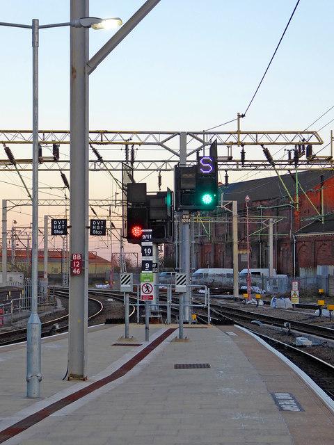 Station platforms at Wolverhampton