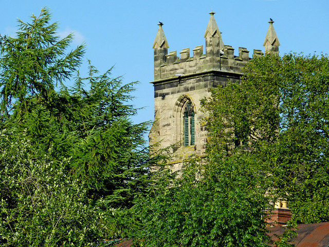 Church tower in Colwich, Staffordshire