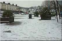 SX9164 : Torquay coach station in the snow by Derek Harper