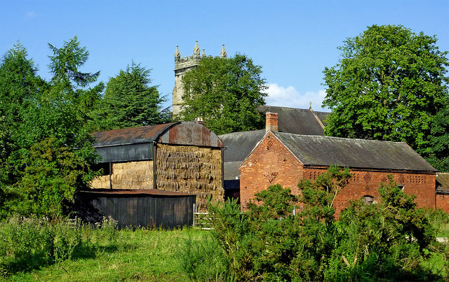 Old canalside barns near Colwich in Staffordshire