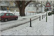 SX9164 : Road by Upton Park by Derek Harper