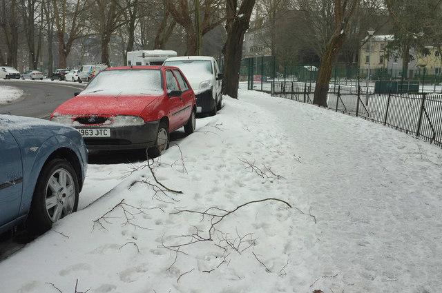 Snow by Upton Park