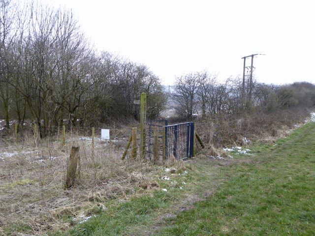 Footpath junction on Gorsty Bank
