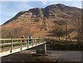 NN1271 : Footbridge by the youth hostel, Glen Nevis by Craig Wallace