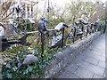 "ST5774 : ""The fence"", Burlington Road by Eirian Evans"