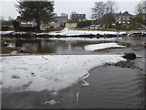 H4772 : Snow and ice, Camowen River by Kenneth  Allen