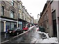 ST3188 : Snow remnants, Griffin Street, Newport city centre by Jaggery
