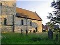 SP8526 : Stewkley churchyard on a July evening by Stefan Czapski