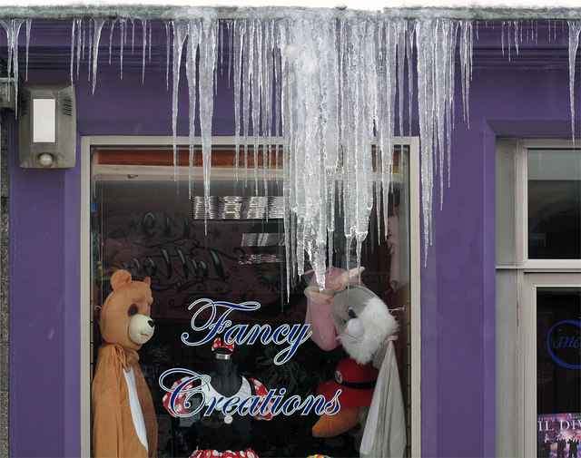 Icicles in High Street, Galashiels