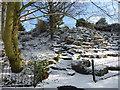 TQ4577 : Snowy steps in Rockcliffe Gardens by Marathon