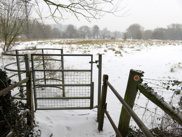 Kissing gate to the river meadow