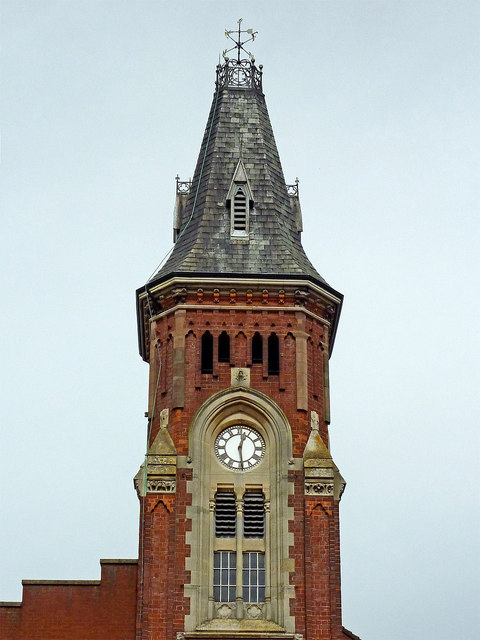 Former Town Hall (detail) in Rugeley, Staffordshire