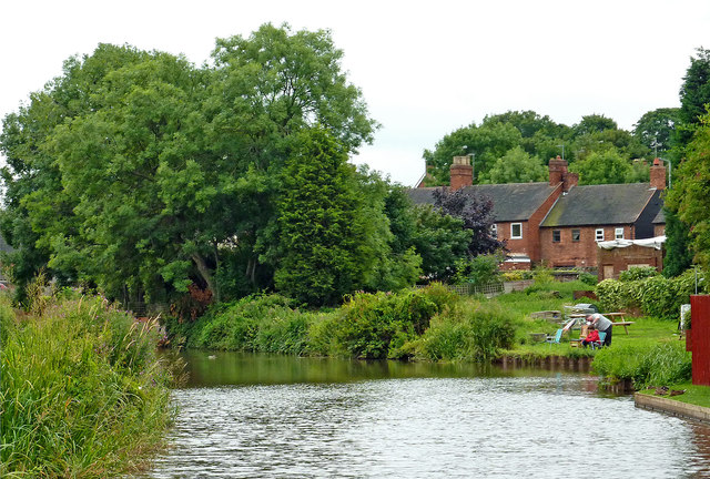 Trent and Mersey Canal near Rugeley in Staffordshire