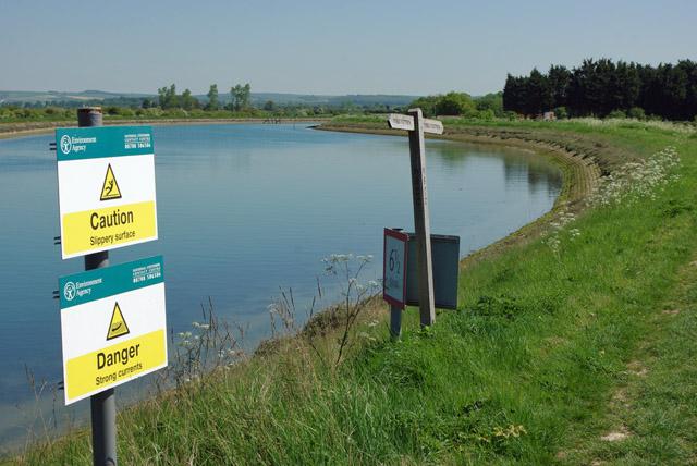 River bank signage