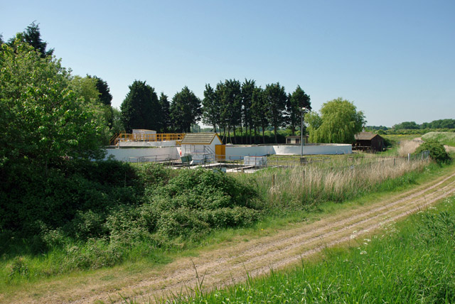 Sewage works by River Arun