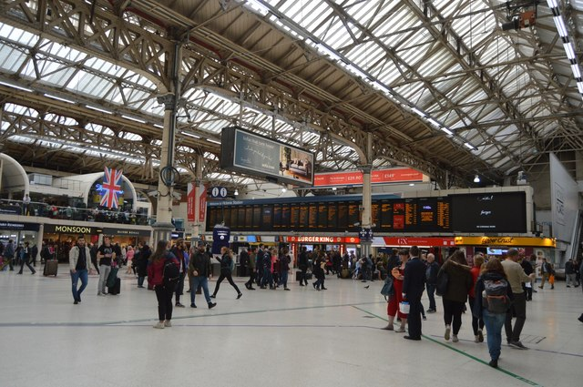 In Victoria Station