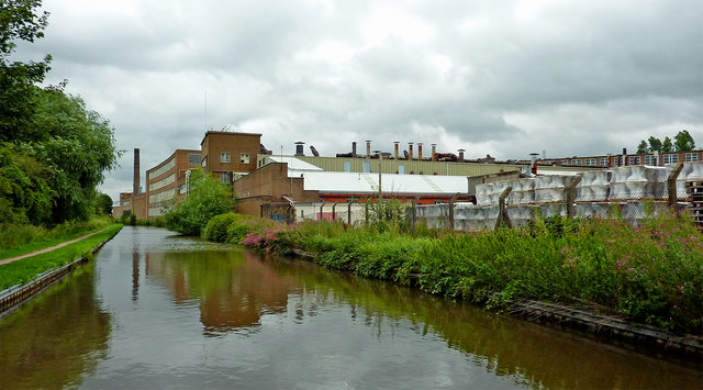 Canal and toilet factory in Armitage, Staffordshire