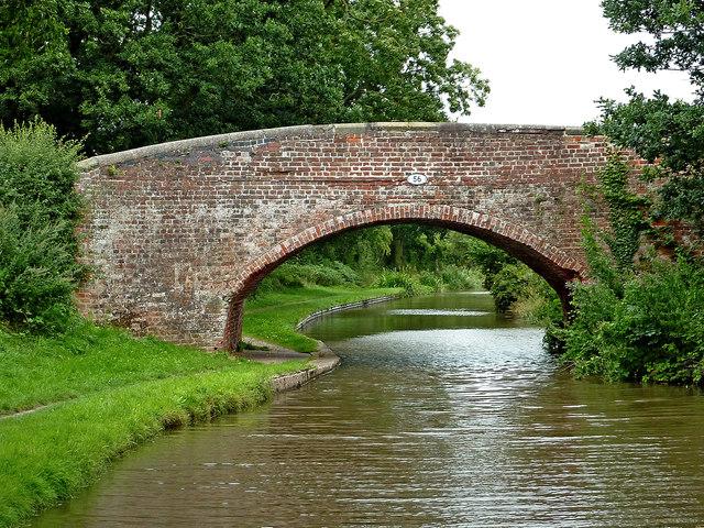 Tuppenhurst Bridge east of Handsacre in Staffordshire