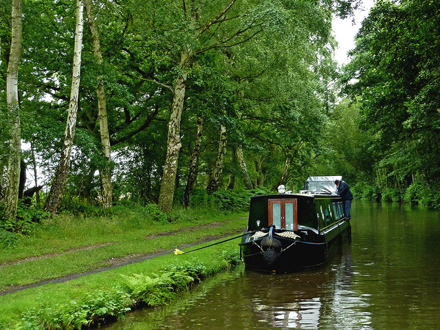 Canal south-west of Fradley Junction in Staffordshire