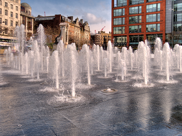 Piccadilly Gardens Fountain