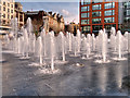 SJ8498 : Piccadilly Gardens Fountain by David Dixon