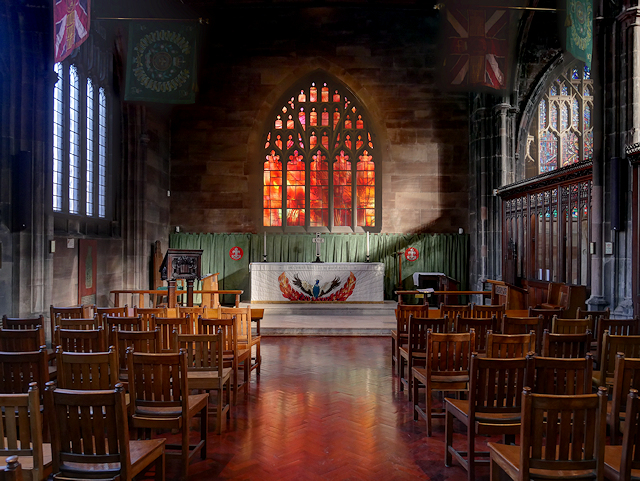 Manchester Cathedral, Regimental Chapel and Fire Window