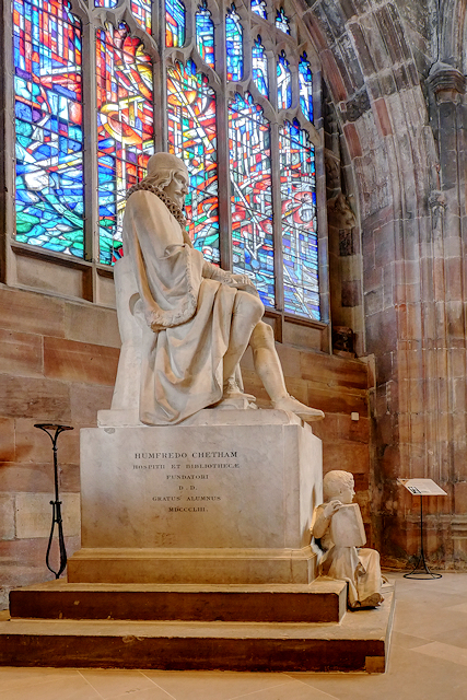 Humphrey Chetham Statue, Manchester Cathedral