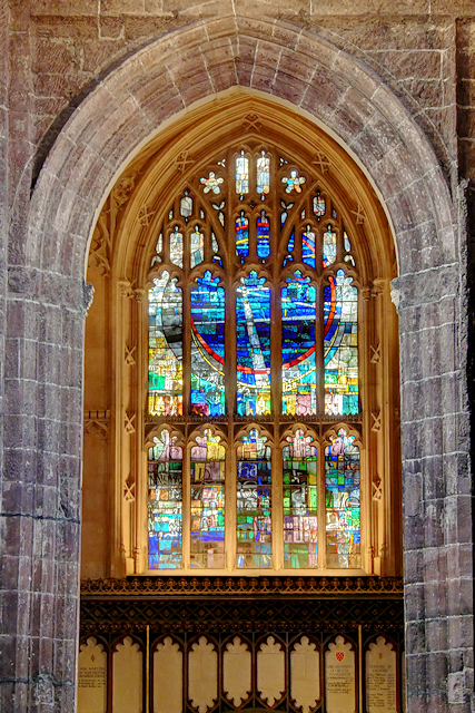 St Mary Window, Manchester Cathedral West Tower