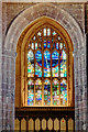 SJ8398 : St Mary Window, Manchester Cathedral West Tower by David Dixon