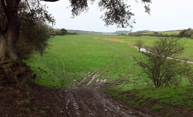 Amble flood plain from the B3314