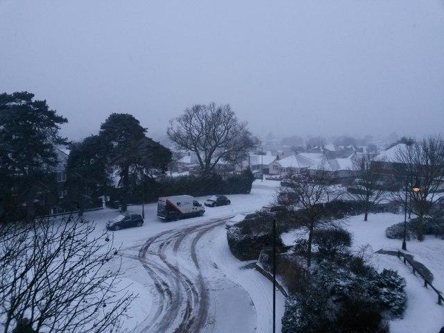 Northbourne: Storm Emma brings a blanket of snow