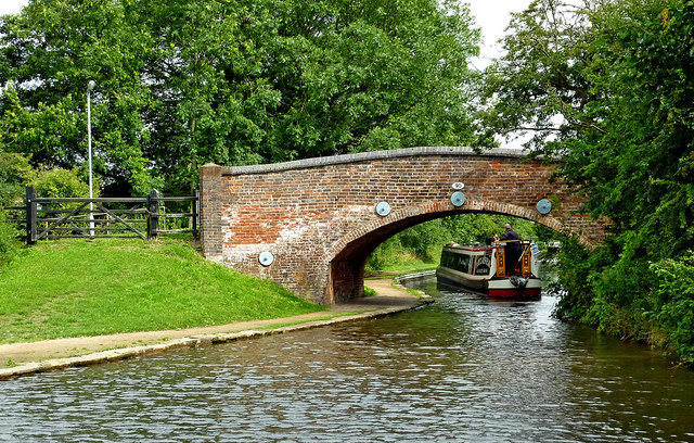 Coventry Canal at Fradley Bridge in Staffordshire