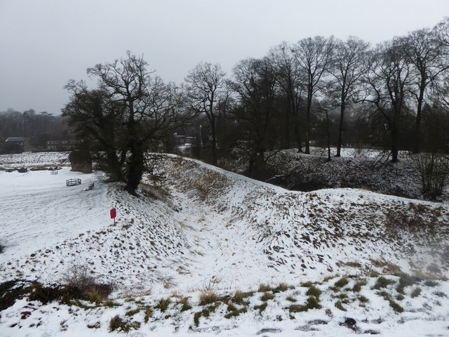 Double moat of Berkhamsted Castle