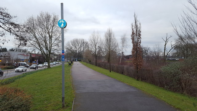 Cycle path in Worcester