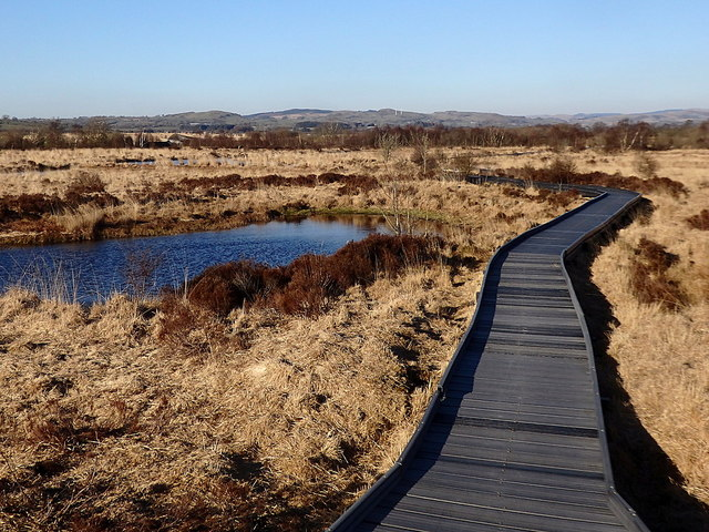 Boardwalk on the loop path, Cors Caron