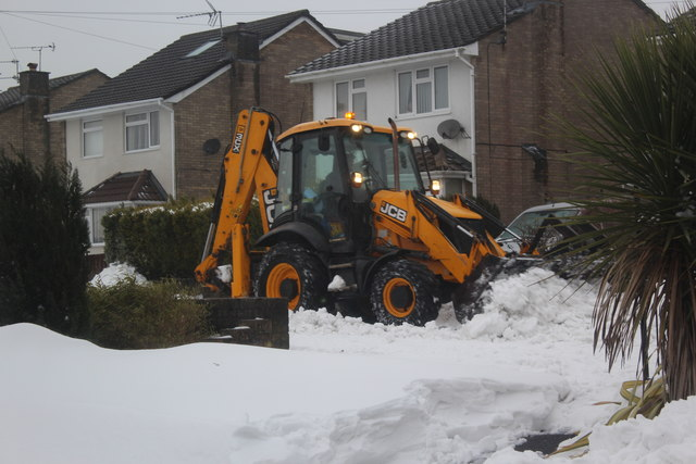 Snow clearance, Waun Goch Road, Oakdale