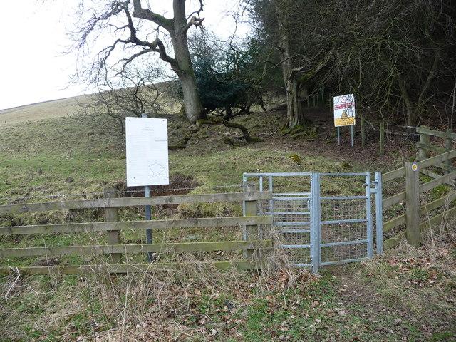 Public footpath to Ellerton Moor