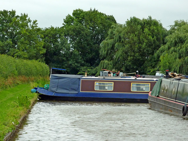 Canal by Lichfield Marina at Streethay, Staffordshire